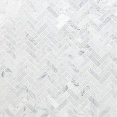 Ivy Hill Tile White Carrara Herringbone 12 in. - The Home Depot Ivy Hill Tile White Carrara Herringbone 12 in. - The Home Depot Mosaic Wall Tiles, Marble Mosaic, Stone Mosaic, Stone Tiles, Mosaic Bathroom, Marble Bathrooms, Home Depot Bathroom Tile, Bathroom Ideas, Mosaic Tile Shower Floor