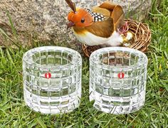 Set of Two Vintage Iittala 'Erika' Crystal Votive $27.50 at Etsy