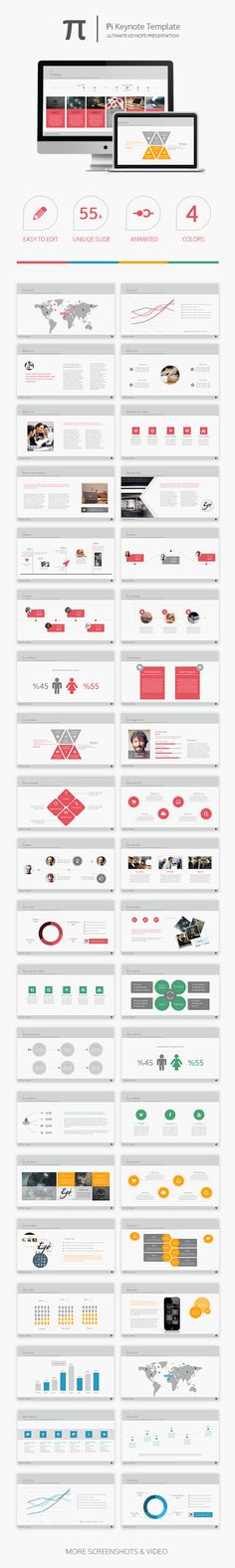 Pi Keynote Template - Business Keynote Templates