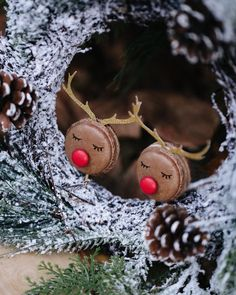My absolute favorite mac raindeer! How adorable are they 🦌🦌! I'm obsessed! Antlers, Wedding Cakes, Mac, Seasons, Drop Earrings, Christmas Ornaments, Holiday Decor, Instagram, Design