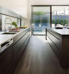 ideas de cocinas en blanco y negro 10