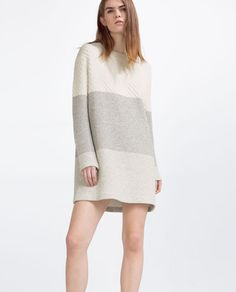 Image 1 of TRI-COLOUR DRESS from Zara