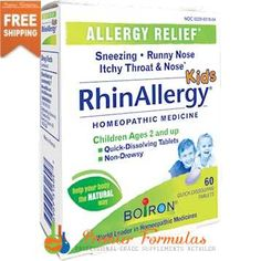 RhinAllergy Kids 60 tabs Holistic Care, Holistic Nutrition, Holistic Healing, Nutrition Tips, Health And Nutrition, Health Fitness, Homeopathic Medicine, Holistic Medicine, Holistic Treatment