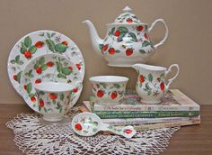 Alpine Strawberry Starter Tea Set by Roy Kirkham from www.theteacorner.com