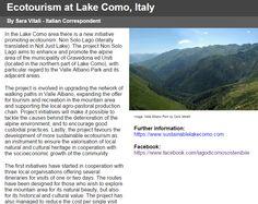 Ecotourism at Lake Como, Italy
