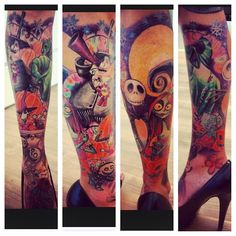 I'm in love! Best tattoo ever! I love Tim Burton, I Love The Nightmare Before Christmas and I LOVE this tattoo!