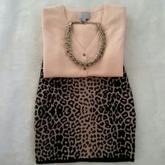 """Leopard Mini Skirt M Forever 21 leopard mini skirt. Size Medium. 15"""" long. Waist band is stretchy. In excellent pre-loved condition. Forever 21 Skirts Mini"""