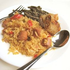 eatingclub vancouver: Cuban Arroz con Salchichas (Yellow Rice with Vienna Sausages)