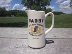 PADDY Ireland Old Irish Whiskey Pitcher Cork Distilleries St Paddy Day CA1