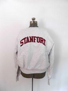 Vintage Stanford University Sweatshirt Heather by rileybella123, $35.00