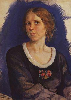 Портрет А. И. Куниной. Зинаида Евгеньевна Серебрякова. 1921г