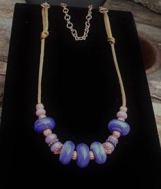 Jewelry Necklace Handmade Artisan Glass Original OOAK  Bohemian Bling - pinned by pin4etsy.com
