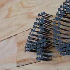 DIY House numbers: materials needed? Hammer and box of nails