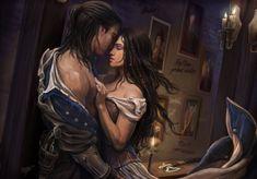 Assassins Creed 3 - Temptation by KejaBlank on DeviantArt Throne Of Glass Fanart, Throne Of Glass Books, Throne Of Glass Series, Romance Art, Fantasy Romance, Fantasy Love, Dark Fantasy Art, Draw Character, Assassins Creed 3