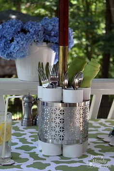 pvc utensil holder