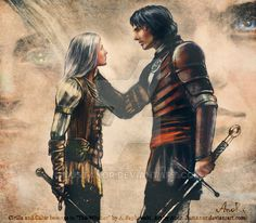 Ciri&Cahir  Not this place, not this time by JustAnoR.deviantart.com on @DeviantArt