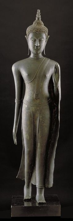 .Walking Buddha |  Artist Unknown (Thailand, Asia), 15th century
