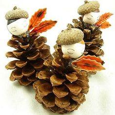 Pinecones in berets! #craftykitschmas