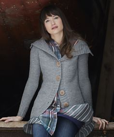 Calligraphy cardigan has been a top selling Knitbot pattern since 2011, with many beautiful versions completed by knitters around the world. It's truly a classic design for the modern knitter, with a fitted body knit in dk weight yarn, a wide collar, and oversized buttons.