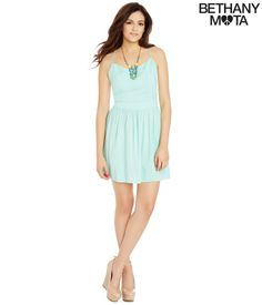 Solid Open-Back Sundress from Bethany Mota Collection at Aeropostale