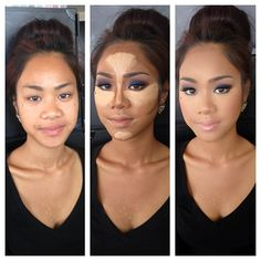 Full face contour. I am waaaaaaay too lazy to ever do this, but it's good to know just in case!