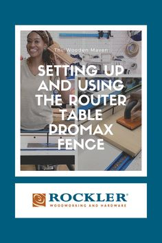 The Rockler Router Table ProMax Fence will help you achieve unmatched precision at your router table. Char Miller-King, aka The Wooden Maven, shows you how easy it is to set up and use this innovative new router table fence. Watch the video to learn more! #CreateWithConfidence #TheWoodenMaven #RouterTable #RouterTableFence #RocklerRouterTable Rockler Woodworking, Learn Woodworking, Router Table Fence, Router Accessories, Router Lift, Power Tools, Masters, Innovation, Workshop