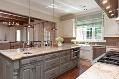 Puritan Gray 146 by Benjamin Moore (island color)  Shady Grove Residence  kitchen