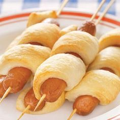 Hot Dogs on a stick - prepare on a grill or campfire.