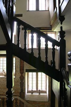 Stairs in Harvington Hall where priest hole was built. Cottage Stairs, House Stairs, Tudor Cottage, Tudor History, Secret Places, Priest, Catholic, Survival, England
