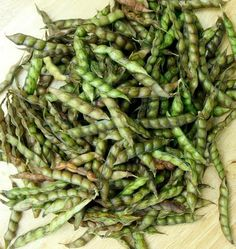 pigeon peas - the chore you were always given! shelling the peas.