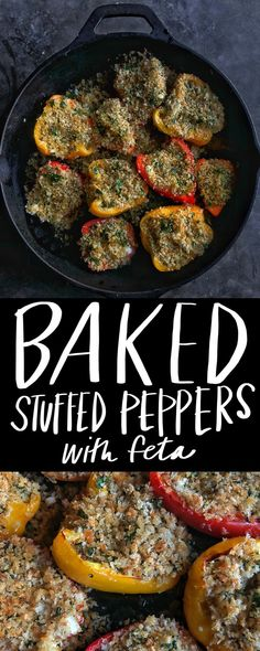 Baked Stuffed Peppers with Feta