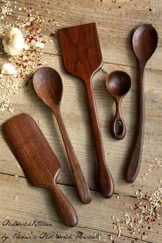 gourmet collection | walnut – Old World KitchenGourmet food deserves gourmet utensils. This is a set of five fine wood kitchen utensils, discounted 10% from the list prices of the individual pieces. This lovely gift set includes our All-Purpose Spatula, Mary Spurtle, Simple Scoop, Basic Serving Spoon and Artisan Cooking Spoon. It's the perfect wooden spoon set to give as a wedding gift or housewarming present!