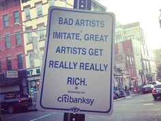 """Oh, TrustoCorp. The New York-based artist(s), who enjoy highlighting the hypocrisy/irony/hilarity of human behaviour through faux products and parody street signs, TrustoCorp's latest is to take on Banksy, head on. Banksy is on the streets of New York this month, working on his 'Better Out Than In' project. """"We love Banksy and love seeing his […]"""