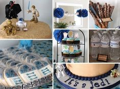 Star Wars Baby Shower Ideas...  If someone I know ever has a baby boy : )