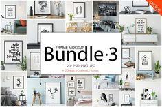 Frame Mockup Bundle Vol 3 by Yuri-U on @creativemarket