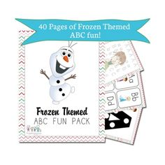 FREE 40 page Frozen-Themed ABC + Math Pack http://superduperkidsblog.com/free-40-page-frozen-themed-abc-math-pack/