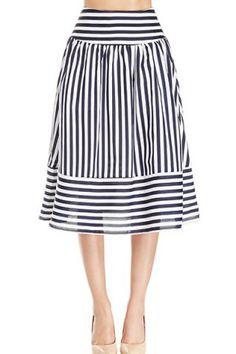 Stripe Panel SkirtSkirts   RoseGal.com