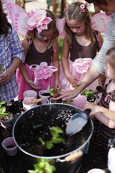 Completely awesome (and doable) fairy party for little girls.