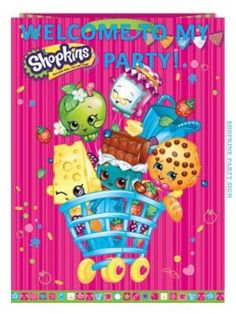 Shopkins Welcome to my Party Sign Free Printable
