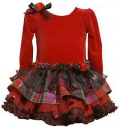 f79a3902010 New Baby Girls Bonnie Jean 18 months Red Plaid Ruffle Christmas Dress  Holiday