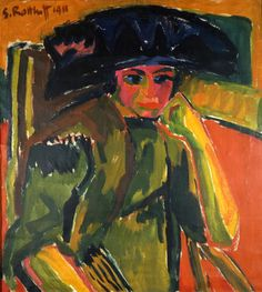 Karl Schmidt-Rottluff  Bildnis Rosa Schapire (1911) Brücke-Museum, Berlin
