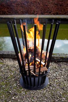Panier pour feu ouvert en métal -