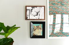 gallery wall with Tiny Prints photo canvas and DIY frame | Farm Fresh Therapy.jpg