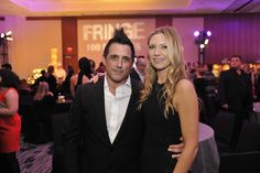 FRINGE 100TH EPISODE PARTY and FINALE EVENT: FRINGE Cast member Anna Torv celebrates with Executive producer J.H. Wyman during the FRINGE 100TH EPISODE PARTY and FINALE EVENT at the Fairmont Pacific Rim Hotel on Saturday Dec. 1st in Vancouver, British Columbia. CR: Michael Courtney/FOX