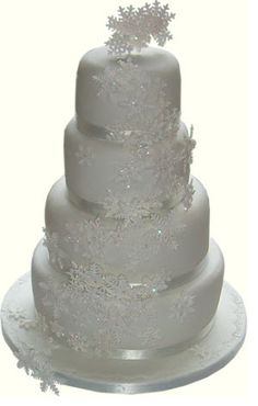 Winter Wedding Cake... Wedding ideas for brides, grooms, parents & planners ... https://itunes.apple.com/us/app/the-gold-wedding-planner/id498112599?ls=1=8 … plus how to organise an entire wedding ♥ The Gold Wedding Planner iPhone App ♥