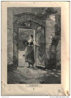 """Am frühen Morgen - Druck, ausgeschnitten   aus """"die Gartenlaube"""", 1897"""