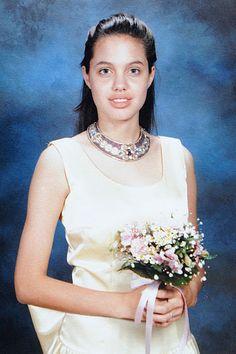 Angelina Jolie at her 8th grade graduation dance, 1988