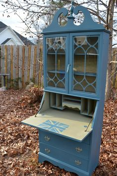 Vintage Secretary Desk Hutch hand painted with Chalk Paint(TM) by Annie Sloan. $300.00, via Etsy.