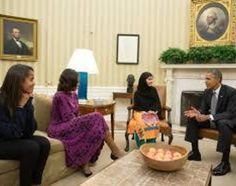 Malala Yousafzai requests President Obama to stop drone strikes in Pakistan