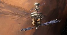 Space station in Mars orbit by Ville Ericsson